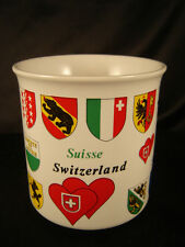 cup mug Switzerland depicting heldic animals coats of arms districts coffee tea