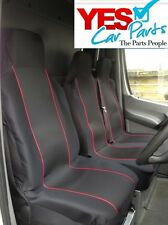 VAUXHALL VIVARO 2005 DELUXE RED PIPING VAN SEAT COVERS 2+1