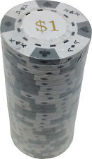 Poker Chips (25) $1 Tri-Gold 14 g Clay Composite FREE SHIPPING *