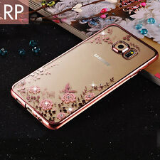 Luxury Bling Diamond TPU Clear Case for Samsung Galaxy S6 S7 Edge+ Silicone Cove