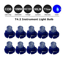 10X Blue T4/T4.2 Neo Wedge LED Bulb Cluster Instrument Dash Climate Base Lights