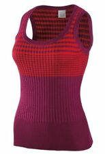 NIKE GOLF Woman STRIPED Wool SLEEVELESS Top SHIRT Coral Purple BREATHABLE Knit M