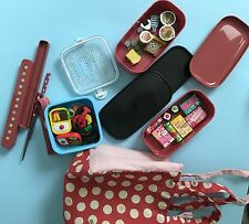 Traditional Japanese Nakano Bento lunch box + Iwako mini-erasers and container