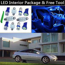 4PCS Bulbs Blue LED Interior Lights Package kit Fit 2000-2005 Toyota Celica J1