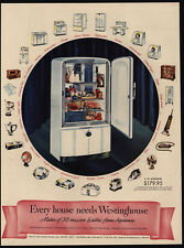 1946 WESTINGHOUSE Refrigerator & Appliances - Every House Needs - VINTAGE AD