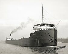 Photograph Steamer Thomas Lynch Detroit River Bob-Lo Boat in Background 1908