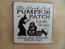 Shabby Halloween pumpkin plaque/sign, chic and unique