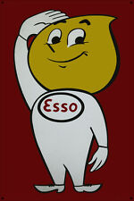Esso Man Steel and Enamel Painted Metal Retro Display Sign