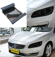 Auto Headlight Gloss black Tint Vinyl Wrap Film Sheet Overlay Sticker 100 x 30cm