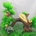 Plastic Bonsai Green Tree Aquarium Fish Tank Underwater Plant Decor Ornament