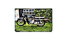 Cossack Voskhod Motorbike Sign Metal Retro Aged Aluminium Bike