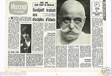 Coupure de presse Clipping 1978 (2 pages) Gurdjieff Georges Ivanovitch