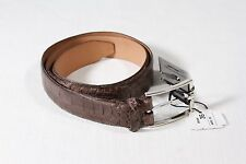 New Martin Dingman USA Light Brown Matte Finish American Alligator Belt Size 36