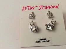 $35 Betsey Johnson Jewelry  Cubic Zirconia Cat and Crown 405