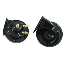 12V Black High Quality Snail horn For Car Motorcycle Double Frequency Universal