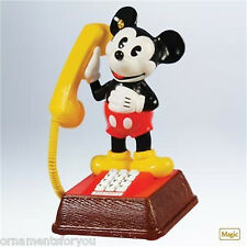 Hallmark 2011 Mickey's Talking Telephone Mickey Mouse Disney signed by Ken Crow
