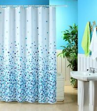 Fully Washable Mosaic Shower Curtain With 12 Hooks 180 x 180 cm