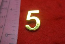 "14KT GOLD EP NUMBER ""5"" LAPEL PIN"