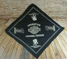 Harley Davidson Operation Wounded Warrior Project Freedom Bandana Handkerchief