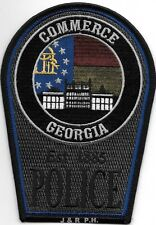 """Commerce - subdued - 1885, GA  (4"""" x 5.5"""" size) shoulder police patch (fire)"""