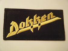DOKKEN PATCH Embroidered Iron On Badge Heavy Metal GLAM ROCK BAND LOGO NEW