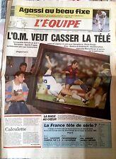 L'Equipe Journal du 27/11/1991; Agassi au beau fixe/ L'O.M et la télé/ Kankkunen