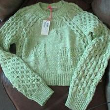 new genuine SEE BY CHLOE green basket weave designer cotton jumper UK14 US10 I46