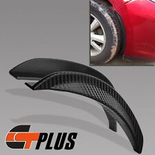 PAIR 25CM CAR AUTO FAKE CARBON FIBER FENDER FLARE LIP PROTECTION BUMPER GUARD
