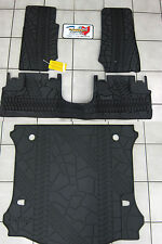 07-2013 Jeep Wrangler 4 Door Unlimited Mopar Rubber Floor Slush Mats Cargo Tray
