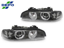 DEPO 01-03 BMW E39 5 SERIES AMBER LED STOCK XENON D2S MODEL AUTO-LEVEL HEADLIGHT