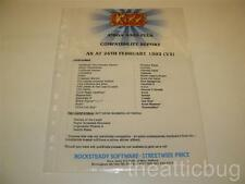 Kixx ~ Amiga A500 Plus Compatibility Report (V2) ~Dealer Information Sheet