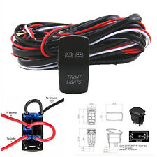 12V ON/OFF Switch+ Control Wiring Harness Kit Relay Front/Fog/Work  Light 40 Am