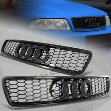 For 1996-2001 Audi A4 S4 Black ABS Honeycomb RS4 Style Front Hood Grille Grill