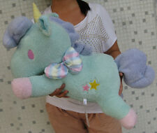 "Sanrio Little Twin Stars Blue Unicorn Stuffed Plush Doll 23""Large Pillow Cushion"