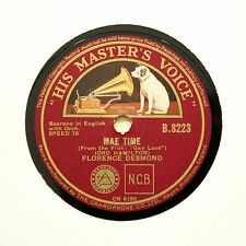 "FLORENCE DESMOND ""A British Mother's Big Flight / Mae Time"" HMV B-8223 [78 RPM]"
