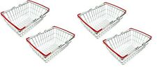 4xStainless Steel Mini Wire Shopping Basket Chip Wedges Food Presentation Basket