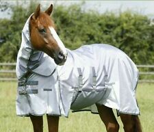"""Premier Equine Super Lite Fly Rug With Belly Flap 6'9"""" Silver"""