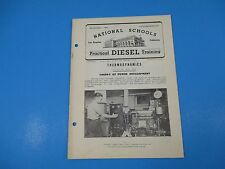 1940's Diesel Training National Schools Lesson #TD-5 Theory of Power Dev M941