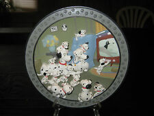 """DISNEY COLLECTIBLE  3-D RELIEF  """"101 DALMATIANS WATCH OUT THUNDER"""" 8 3/8"""" PLATE"""
