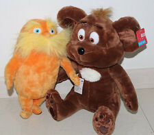 "The Lorax & Bar-Ba-Loots Plush Toy, 2 PCS 9"" Dr Seuss Gift with Free Shipping"