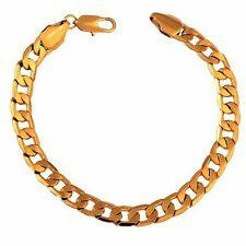 18K Yellow Gold Copper Link-closed Chain Bracelet