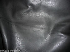 "Leather 8""x10"" VERY Soft Black Deer Tanned Cow hide 3oz/1.2mm scrap"