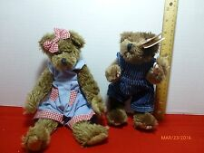 Attic Treasures Collection Ty Christopher Lot of 2 Collectibles Plush Bears