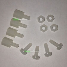 Rc contrôleur de vol nylon vis M3 spacer nut set X4 kk multiwii distribution b