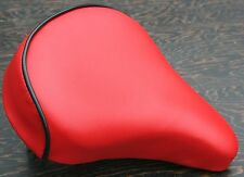 Cool Red Comfort Bicycle Saddle     Vintage Schwinn Tank Bike Beach Cruiser Seat