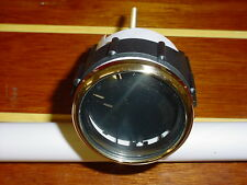 """FARIA BOAT GAUGE BLANK~DASH HOLE COVERS~2"""" HOLE FILLER~SMALL~REGAL GOLD & BLACK"""