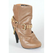 Hot Fashion Maquis 02 Womens Motorcycle Studded western ankle boots  chestnut 9