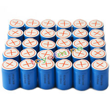 30x Ni-Mh 4/5 SubC Sub C 1.2V 2800mAh Rechargeable Battery with Tab Blue