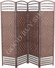 170cm folding rattan bedroom change fitting room privacy screen room divider