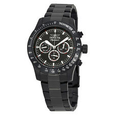 Invicta Signature II Chronograph Black Dial Black PVD Steel Mens Watch 7352